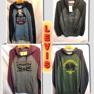Levi's NEW Men's Light Weight Sweater Hood New
